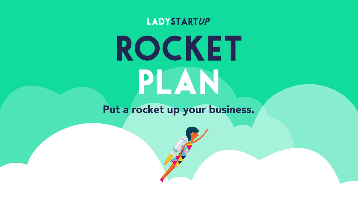 Lady Startup Rocket Plan Put a rocket up your business