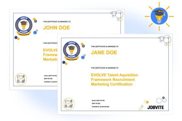 Jobvite Academy certificates